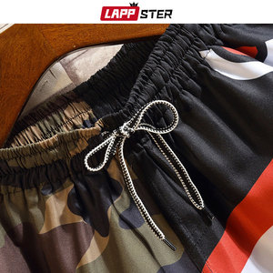 Image 5 - LAPPSTER Men Summer Patchwork Shorts 2020 Mens Streetwear Hip Hop Shorts Casual Shark Polyester Colorful Sweat Shorts Big Size