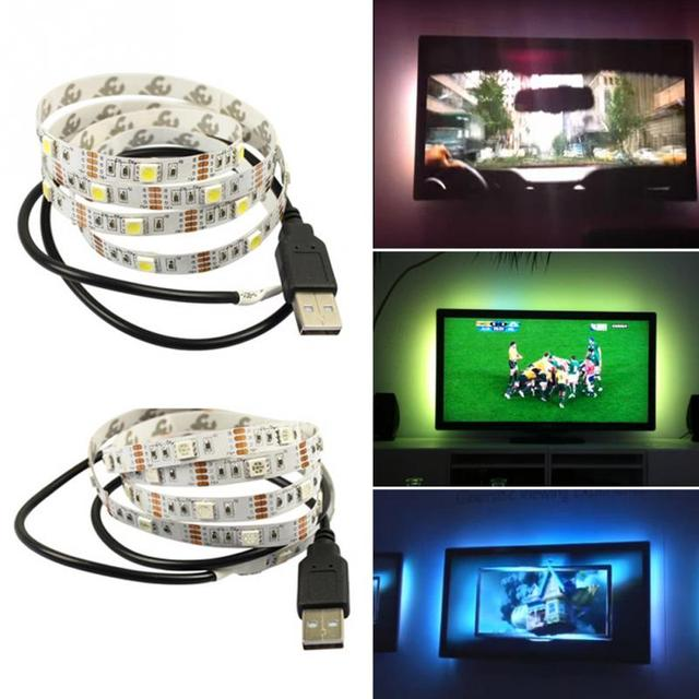 20CM 1M 2M 3M USB Power Supply LED Strip Tape TV Background Lighting