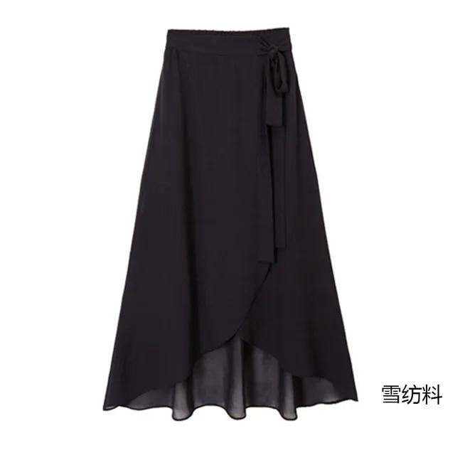 Fashion Women Summer High Waist Irregularly Style bowknot Bandage Skirt Elegent Dress Skirt Female Autumn New Style High Waist I