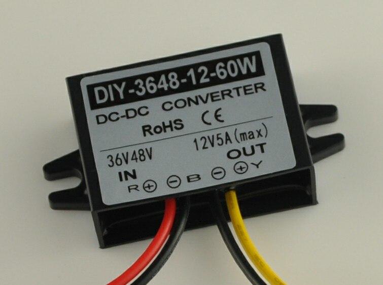 где купить 36V48V(20V-60V) Converter To 12V 5A 60W DC-DC Buck Converter Waterproof Step Down Power Supply Module Voltage Regulator по лучшей цене