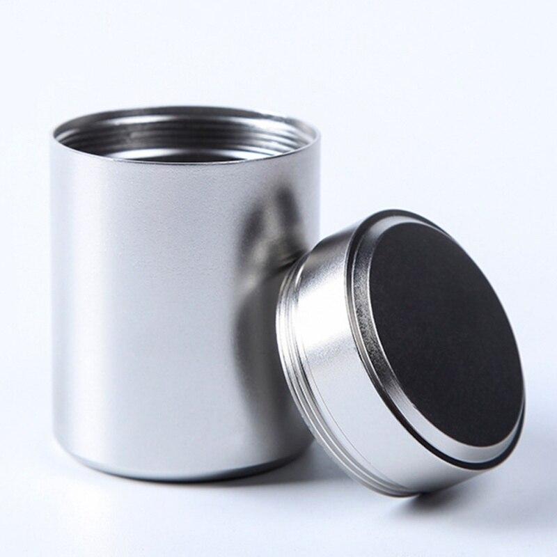 1 יחידות חדש קטן מתכת אלומיניום אטום פחיות נייד נסיעות תה Caddy אטום ריח הוכחת מיכל סטאש צנצנת