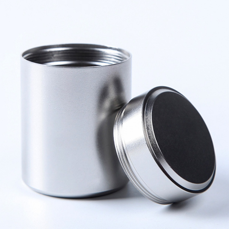 1pcs New Small Metal Aluminum Sealed Cans Portable Travel Tea Caddy Airtight Smell Proof Container Stash Jar