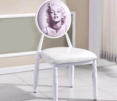 European Type Iron Art Retro Leisure Back Dining Chair. Cafe Hotel Chair. Nail Chair..
