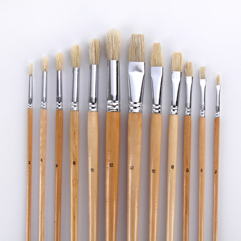 Brush Set with Canvas Holder Synthetic Hair - Set of 38 2