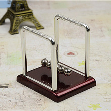 New Educational Toy Newtons Cradle Steel Balance Ball Physics Science Pendulum Metal Craft  Home Desk Decoration Adult Kids Toy