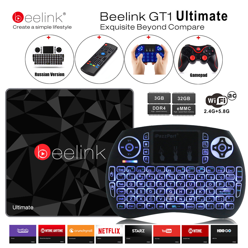 Beelink S912 GT1 Melhor Box TV 3G 32G Amlogic Octa Núcleo CPU DDR4 2.4G + 5.8G Dupla WiFi Android 7.1 Conjunto Top Box Media Player X92
