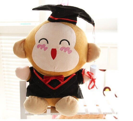 Large 50cm Lovely Monkey Plush Toy Doctor Suit Cloth Design Doll Throw Pillowbirthday Gift W5692