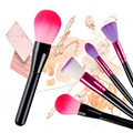 4pcs/set Makeup Brush Set Kit loose powder brush contour brush nylon hair cosmetic makeup tools with wood handle