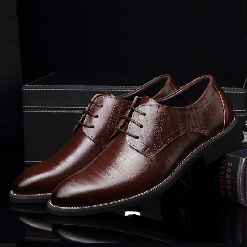 Big Size 37 45 Mens Shoes Cow Split Leather Shoes Men s Leather Luxury Oxfords Branded