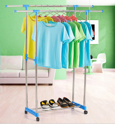 ground Clothes rackground Clothes rack