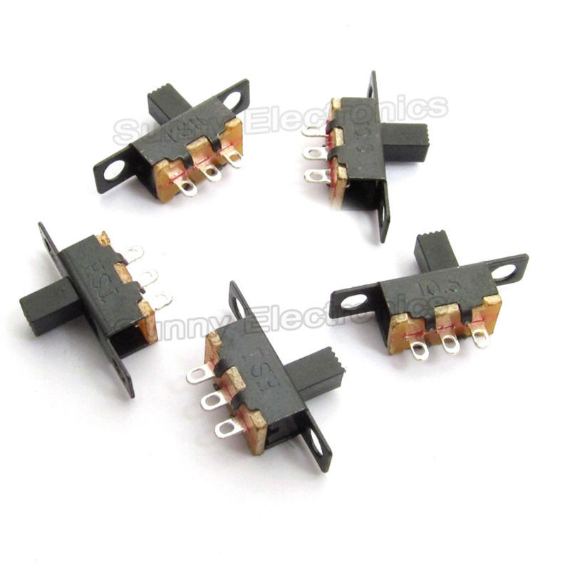 UXCELL 250Vac 3A 125Vac 6A 6 Pins 2 Positions Dpdt On/On Mini Slide ...