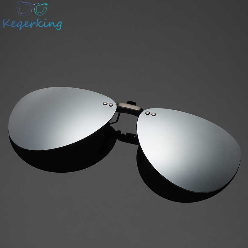 Mens Polarized Clip on Sunglasses Men Women Pilot Sun Glasses UV400 Clip Myopia Eyeglasses Night Driving Glasses ZB-82