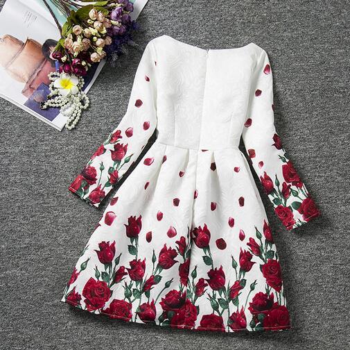 29a8040caafe6 Rose fleur butteryfly Fille Robe D hiver Enfant Vêtements Pour Enfants  Enfants Vêtements pour Filles Manches Longues Vintage De Mariage Partie  dans Robes de ...
