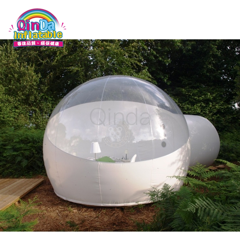 Outdoor Inflatable Half Clear Bubble Camping Dome Lawn Tent Inflatable Bubble House for Hotel clear bubble tent cheap inflatable hiking lawn tent inflatable party tent outdoor family dining inflatable bubble camping tent