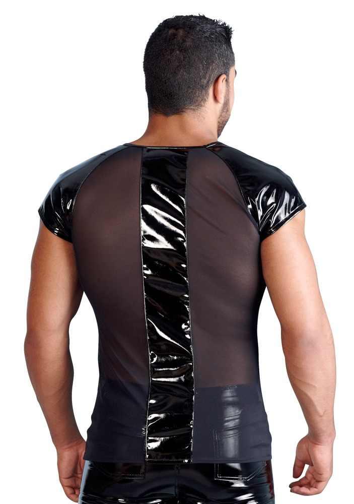 Сексуальное женское белье Европа Сексуальная ПВХ резиновая латексная Мужская футболка эротическая майка для геев подтяжки Фетиш L937