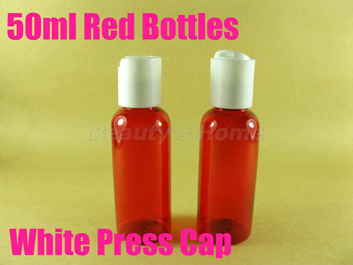 50ml Press cap Red bottle comestic make container small/empty bottles #2106 - Packing Supplier(Bottles and Jars store)