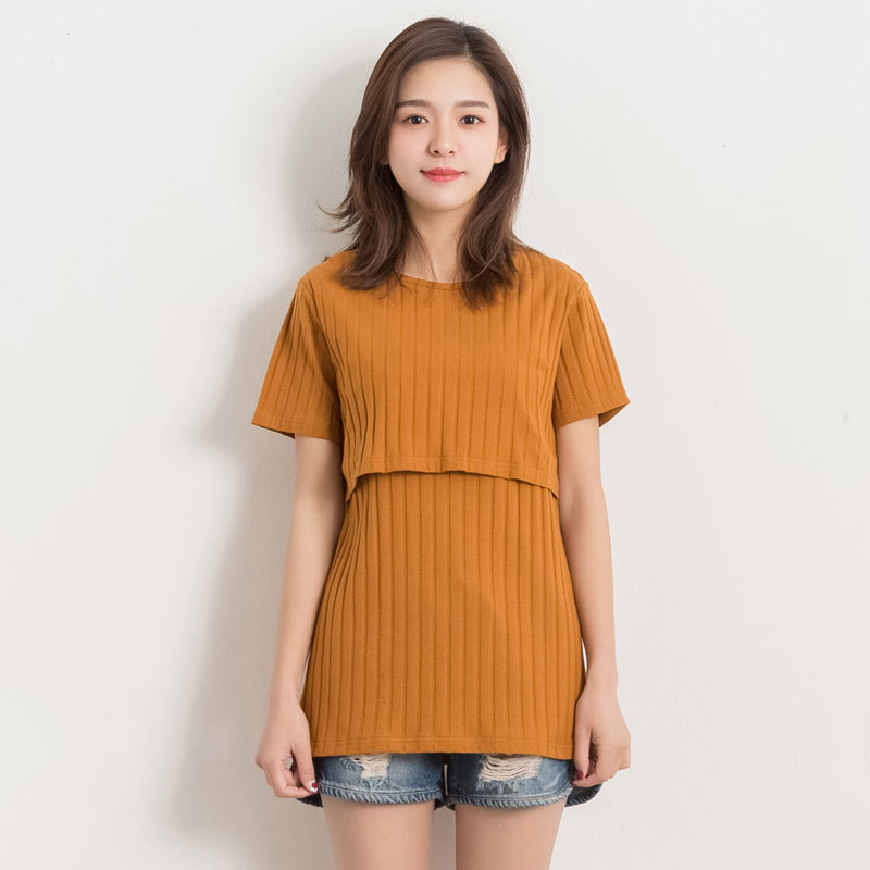 Short Sleeve Nurisng Tops Maternity Tees Feeding Clothes For Pregnant Women T-shirts Pregnancy Tee Breastfeeding Gravidas Tops