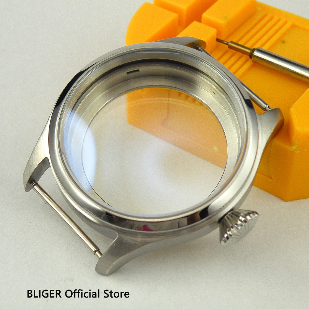 Polished 47MM BLIGER Stainless Steel Watch Case Fit For ETA 6497 6498 Hand Winding Movement C6Polished 47MM BLIGER Stainless Steel Watch Case Fit For ETA 6497 6498 Hand Winding Movement C6
