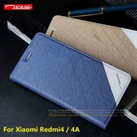 Top Quality Original Tscase PU Leather Stand Flip Cover Magnetic Case For Xiaomi Redmi 4 Standard