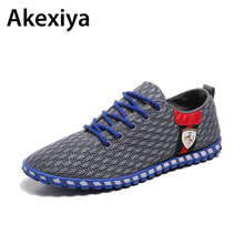 2017 Autumn Lightweight Breathable Mesh Shoes Men Beach Couple Shoes Comfort Lace Up Flats For Man AA28
