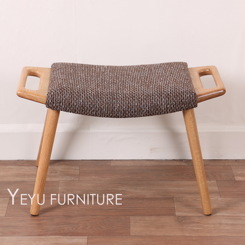 Minimalist modern design solid wooden low stool chair for Low height furniture design