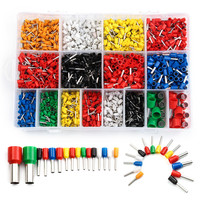 2120Pcs Copper Electric Wire Crimp Connectors Set Insulated Bootlace Cooper Ferrules Kit Cord Pin End Terminals For 22 5AWG