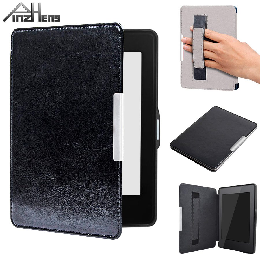 PINZHENG Leather Magnetic Smart Case For Kindle Paperwhite Case 1 2 3 Auto Sleep Wake For Kindle Paperwhite Cover Leather Cases case for mini 1 2 3 esr magnetic smart cover auto wake