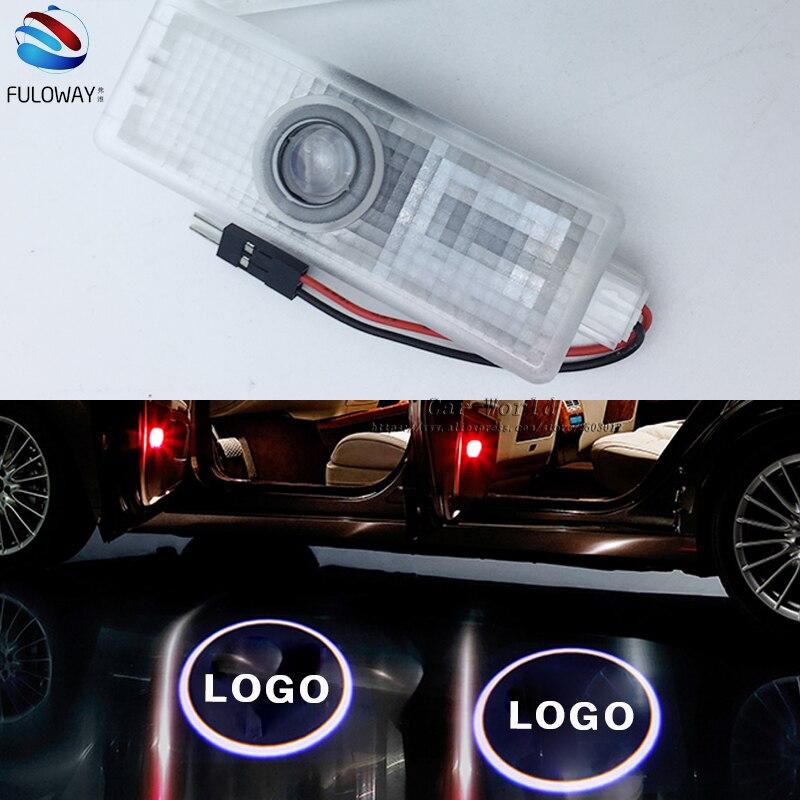 2PCS For BMW E60 E90 F10 F30 F15 E63 E64 E65 E86 LED Welcome Car Door Courtesy Shadow Logo Lights Projector Laser Ghost Shadow