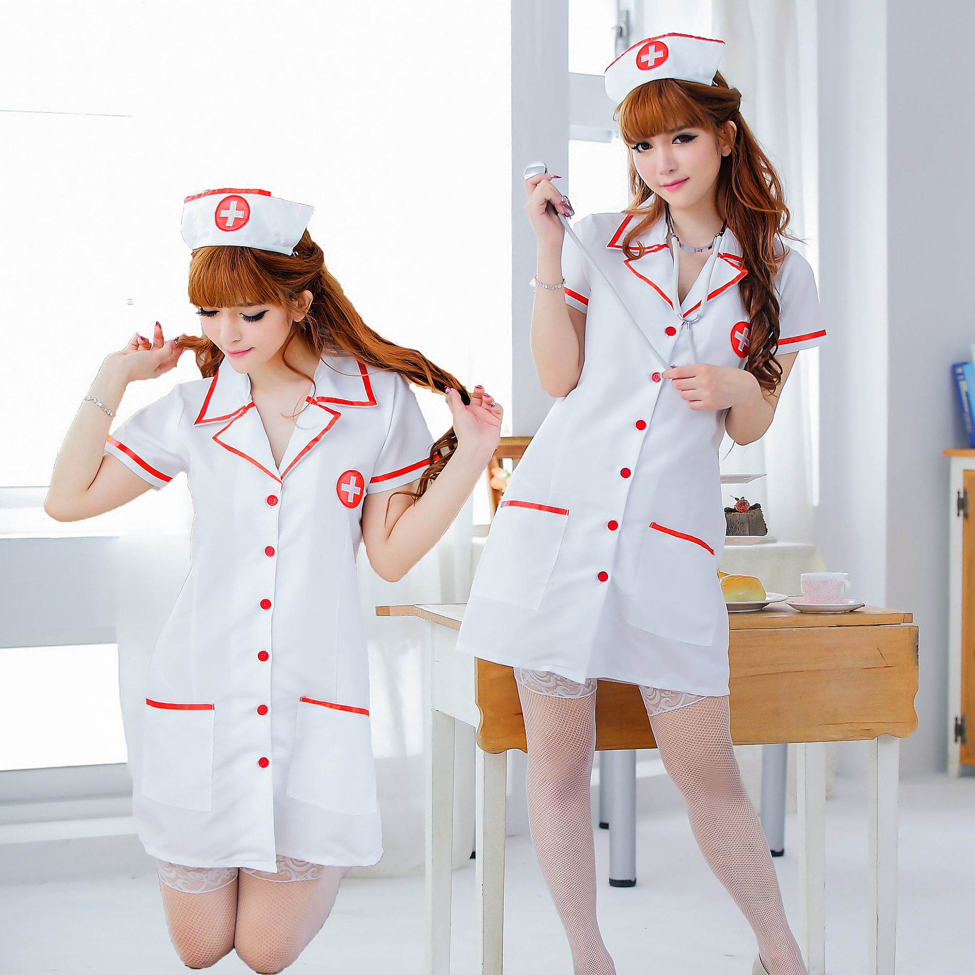 Sexy Cosplaygame Nurse Colthes CostumeRole-playing Uniform Seduction Nurse Role Playing  ...
