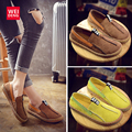 2017 Women Spring Genuine Leather Moccasin Breathable Loafer Casual Slip On Cow Driving Fashion Ballet Boat Shoes Flat
