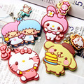 Hello Kitty My Melody Big Ears Pudding Dog Figure Keychain Pvc Pendant Japan Anime Figures Girls Children Christmas Gift