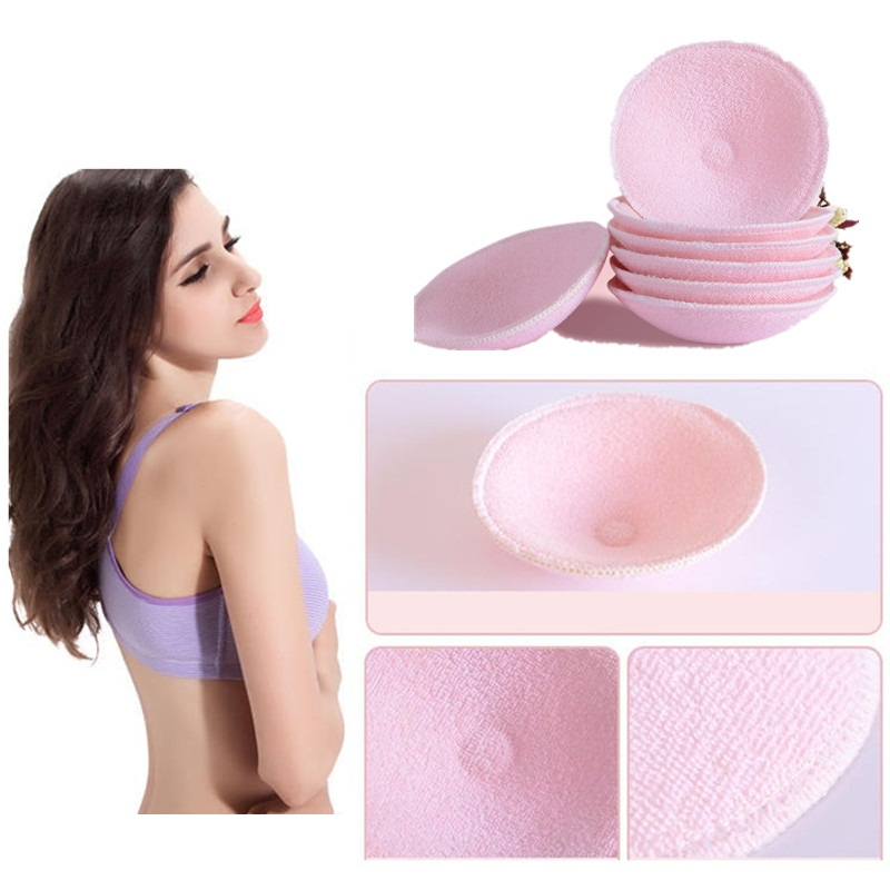 10PCS/5 Pairs Cotton + Sanitary Sponge Reusable Breast Nursing Pads Soft 3D Cup Washable Pad Baby Breastfeeding Accessories