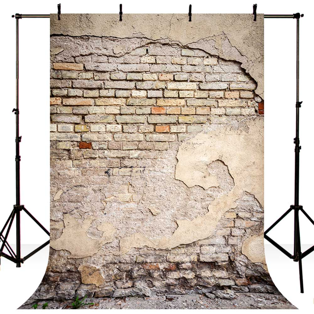 Image 2 - 5x7ft Vinyl Photography Background Brick Wall Wedding Backdrop Children Photo Background for photo Studio f 1351-in Background from Consumer Electronics