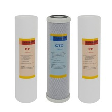 3-Stage Drinking Water Filtration Replacement Filter Sets -3 Filters with Sediment PP 1um, Coconut Carbon Block, 5um