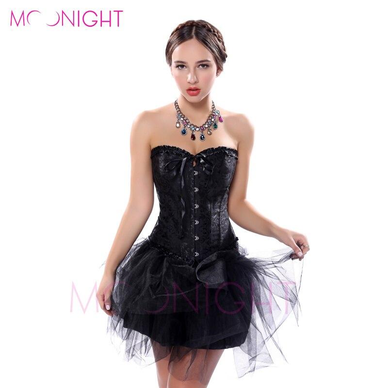 d69df11393a9e Sexy Lingerie Women Black Faux Leather Lace Burlesque Steampunk Corset Dress  Waist Gothic Bustier Corpet Plus Size S-6XL