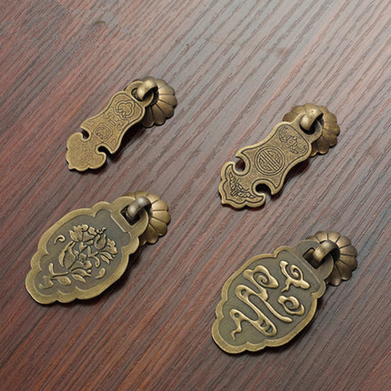 Furniture 3Set Brass Ring Pull Ring Handles For Dresser,Cabinet,Jewelry Box