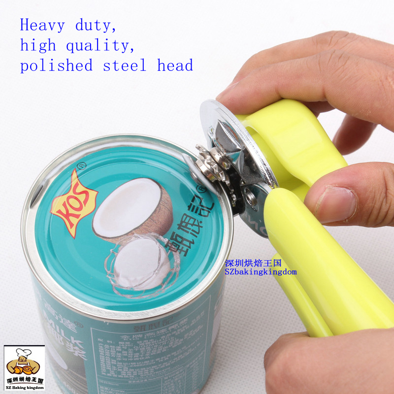 Can Bottle Opener High Quality Manual Smooth-edge Plastic Handle Kitchen Baking Tools