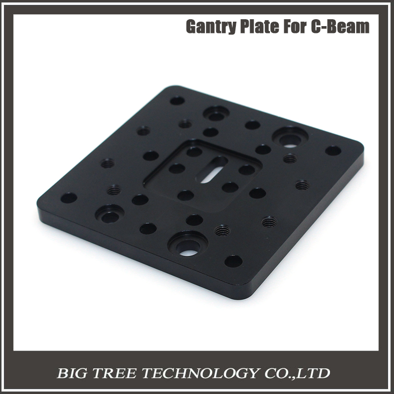 Black Metal Gantry Plate 78 78 6mm For Openbuilds 3D Printers CNC Printer Parts Aluminum Stand