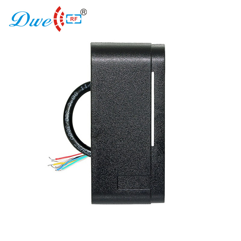 DWE CC RF access control card readers black color 12V 13,56 MHz WIEGAND 26 bit rfid reader for electronic security system dwe cc rf 13 56 mhz outdoor rfid card reader for access control system wiegand 26 free shipping