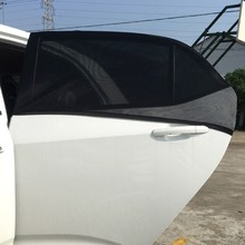 Car-Styling Car Sun Shade 2xCar 66x54cm Window Cover Sunshade Curtain UV Protection Shield Visor Mesh Dust Car Window Mesh(China)