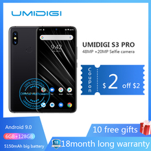 "UMIDIGI S3 PRO Android 9.0 48MP+12MP+20MP 5150mAh 128GB 6GB 6.3"" NFC Global Version Smartphone unlocked octa core mobile phone(China)"