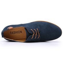 Leather Casual Shoes Flat Men Party