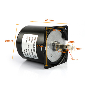 Image 4 - 220V AC 14 ワットマイクロギアモーター 60KTYZ 50Hz 永久磁石同期ギアモーター低速 2.5 5 10 15 20 30 50 60 80 110 rpm