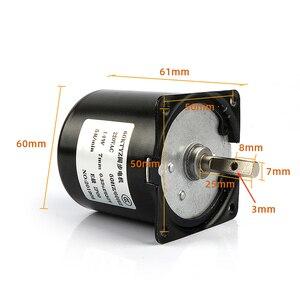 Image 4 - Motor de microengranaje de 220V CA, 14W, 60KTYZ, 50Hz, imán permanente, Motor de engranaje síncrono de baja velocidad, 2,5, 5, 10, 15, 20, 30, 50, 60, 80, 110 rpm