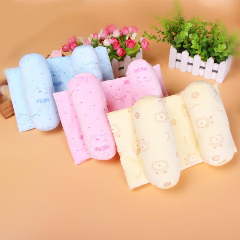 Infant Baby Summer Comfortable Cotton Adjustable Safe Anti Roll Pillow Sleep Head Positioner Bedding Toddler Nursing