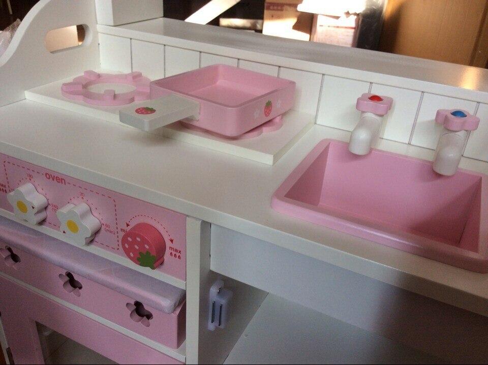 Livraison gratuite bébé jouets en bois cuisine jouets Set girl 's ...