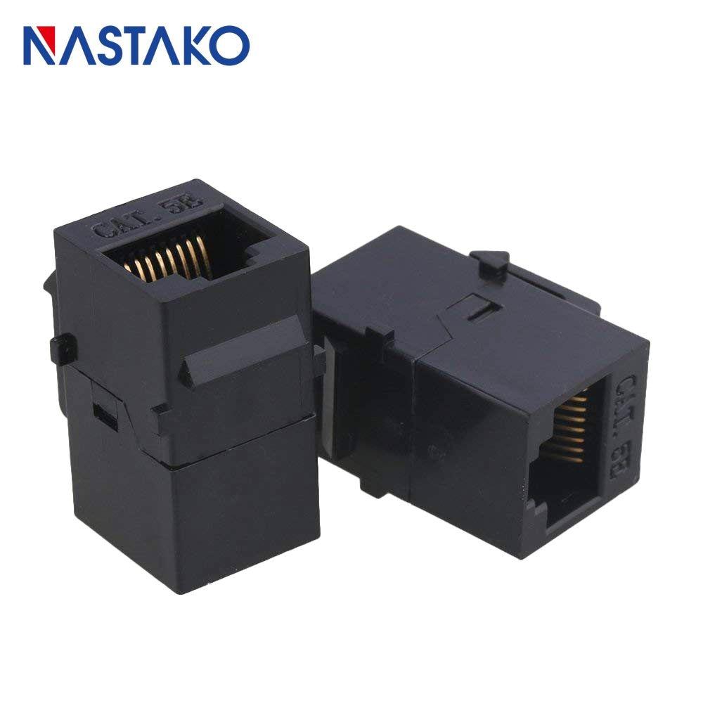 cat5 rj45 connector keystone jack cat5e rj45 extension coupler ethernet network lan cat 5e junction extend [ 1000 x 1000 Pixel ]