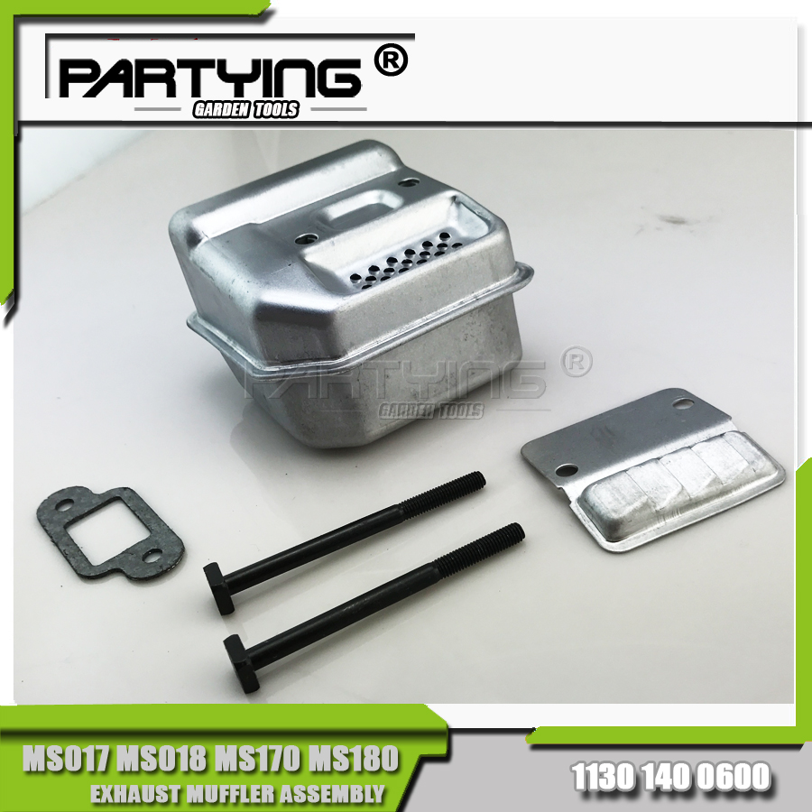 Muffler Exhaust Silencer Bolt Kit For STL MS180 MS170 MS 180 170 018 017 Chainsaw 11301400600