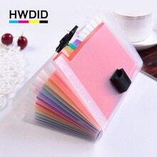 HWDID пластиковый A6/A4 папка с папкой складной документ для документов / документов для экзаменов 13 карманов для расширения папки для кошельков