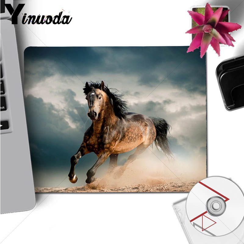 Yinuoda Funny horse horse animal Unique Desktop Pad Game Mousepad Size for 18x22cm 20x25cm 25x29cm